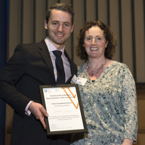 Michael Conroy receives the Pioneering Alumni Award from Sheffield University