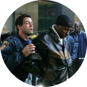 Dominic West as Jimmy McNulty in The Wire.