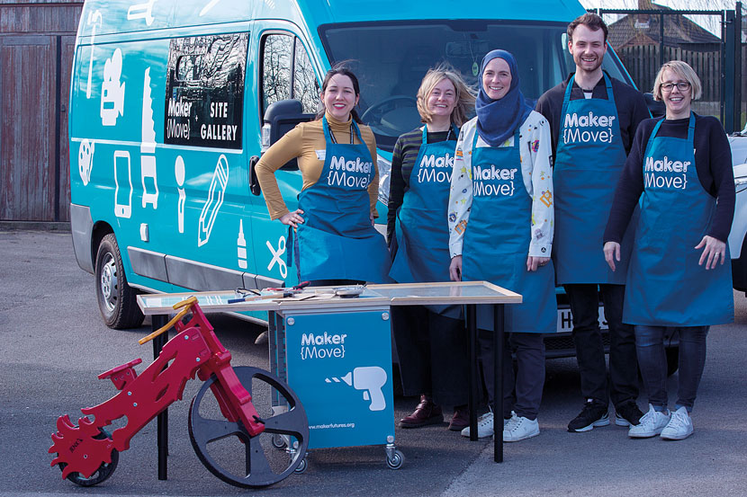 The Maker{Futures} team arrive in the Maker{Move} van to help teach school pupils STEM subjects.